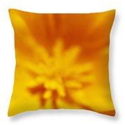 Ladybug On Poppy Flower Petal Throw Pillow