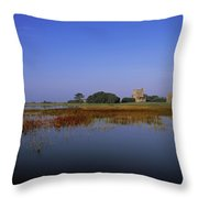 Ladys Island, Co Wexford, Ireland Site Throw Pillow by The Irish Image Collection