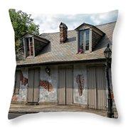 Lafittes Blacksmith Shop Bar New Orleans Throw Pillow