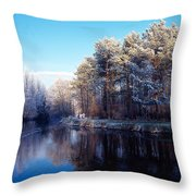 Lagan Meadows During Winter, Belfast Throw Pillow
