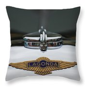 Lagonda Hood Emblem Throw Pillow