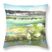 Lagoon In Spain Throw Pillow