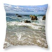 Laguna Beach Coast Throw Pillow