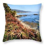 Laguna Beach Coastline Photo Throw Pillow