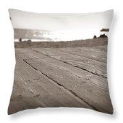 Laguna Beach Walk Throw Pillow