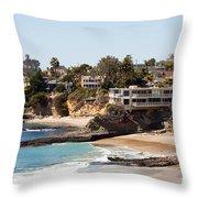 Laguna Beach Waterfront Homes Throw Pillow