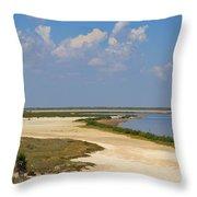 Laguna Madre At Laguna Atascosa Throw Pillow