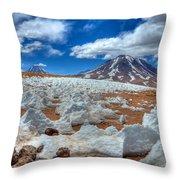 Laguna Miscanti - 4500m Throw Pillow