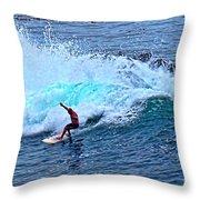 Laguna Surfer Throw Pillow