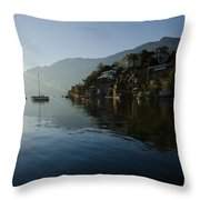 Lake And Sunlight Throw Pillow