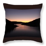 Lake Anderson Sunset Throw Pillow