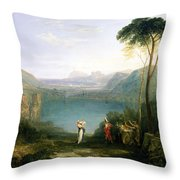 Lake Avernus - Aeneas And The Cumaean Sibyl Throw Pillow