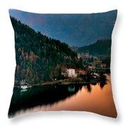 Lake Bled. Slovenia Throw Pillow