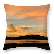 Lake Casitas Sunrise Throw Pillow