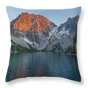 Lake Colchuck Sunset Throw Pillow