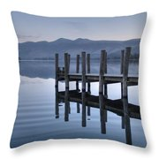 Lake District Jetty Throw Pillow