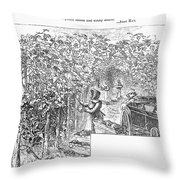 Lake Erie: Vineyard, 1873 Throw Pillow
