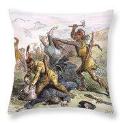 Lake George: Massacre, 1757 Throw Pillow