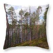 Lake Huosius At Hossa Throw Pillow
