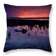 Lake Huron Sunset Throw Pillow