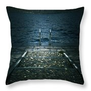 Lake In The Winter Throw Pillow