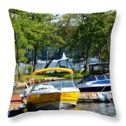 Lake Living 2 Throw Pillow