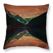 Lake Louise Abstract Throw Pillow