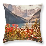 Lake Louise Alberta Throw Pillow