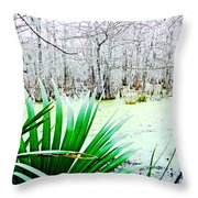 Lake Martin Swamp View Throw Pillow