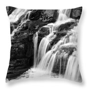 Lake Mcdonald Falls Glacier National Park Throw Pillow