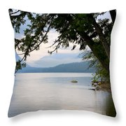 Lake Mcdonald Glacier National Park Montana Throw Pillow