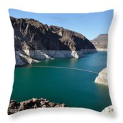 Lake Mead By Hoover Dam Throw Pillow