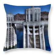Lake Mead Hoover Dam Throw Pillow