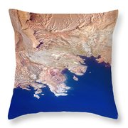 Lake Mead Shores Nv Planet Earth Throw Pillow
