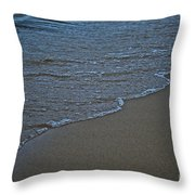 Lake Michigan Beach Throw Pillow