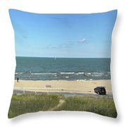Lake Michigan From The Michigan State Side Throw Pillow