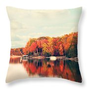 Lake Norman North Carolina Throw Pillow