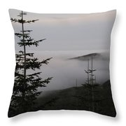 Lake Of Low Clouds Throw Pillow