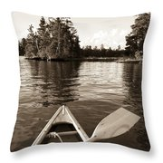 Lake Of The Woods, Ontario, Canada Boat Throw Pillow