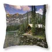 Lake Ohara Lodge Throw Pillow