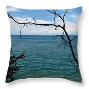 Lake Ontario Near Chimney Bluffs Throw Pillow