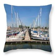 Lake Pepin Harbor Throw Pillow