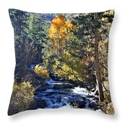 Lake Sabrina Creek Throw Pillow
