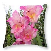 Lake Shore Flowers Two Throw Pillow