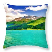 Lake Sils Throw Pillow