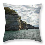 Lake Superior Pictured Rocks 10 Throw Pillow