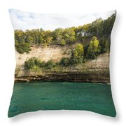 Lake Superior Pictured Rocks 11 Throw Pillow