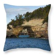 Lake Superior Pictured Rocks 17 Throw Pillow