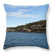 Lake Superior Pictured Rocks 22 Throw Pillow