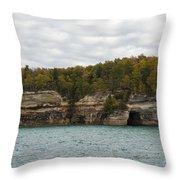 Lake Superior Pictured Rocks 45 Throw Pillow